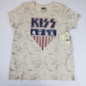 NEW Lucky Brand I KISS Band Shirt